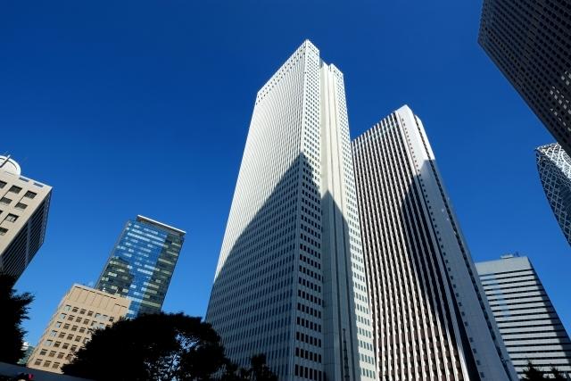 大企業の高層ビル