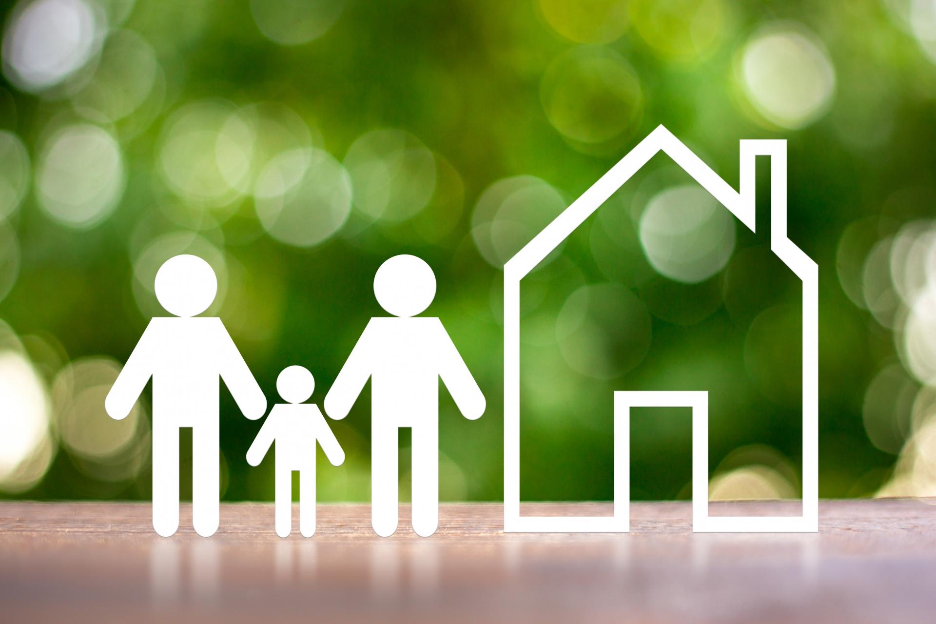 人物模型と住宅模型
