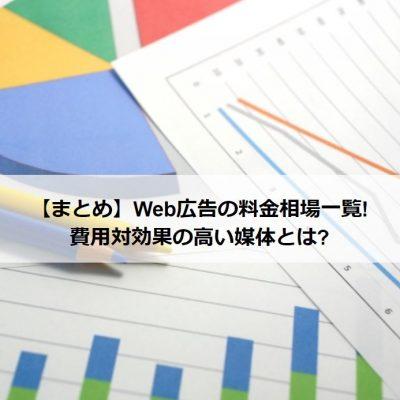 Web広告の料金相場一覧