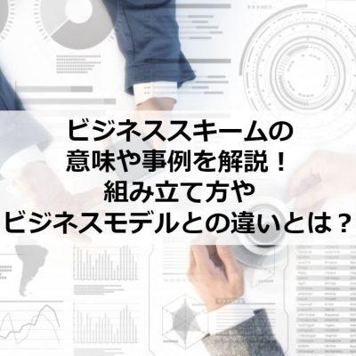 ビジネススキームの意味や事例