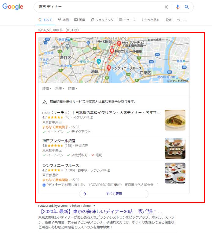 東京ディナー