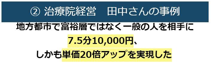 治療院経営田中さんの事例