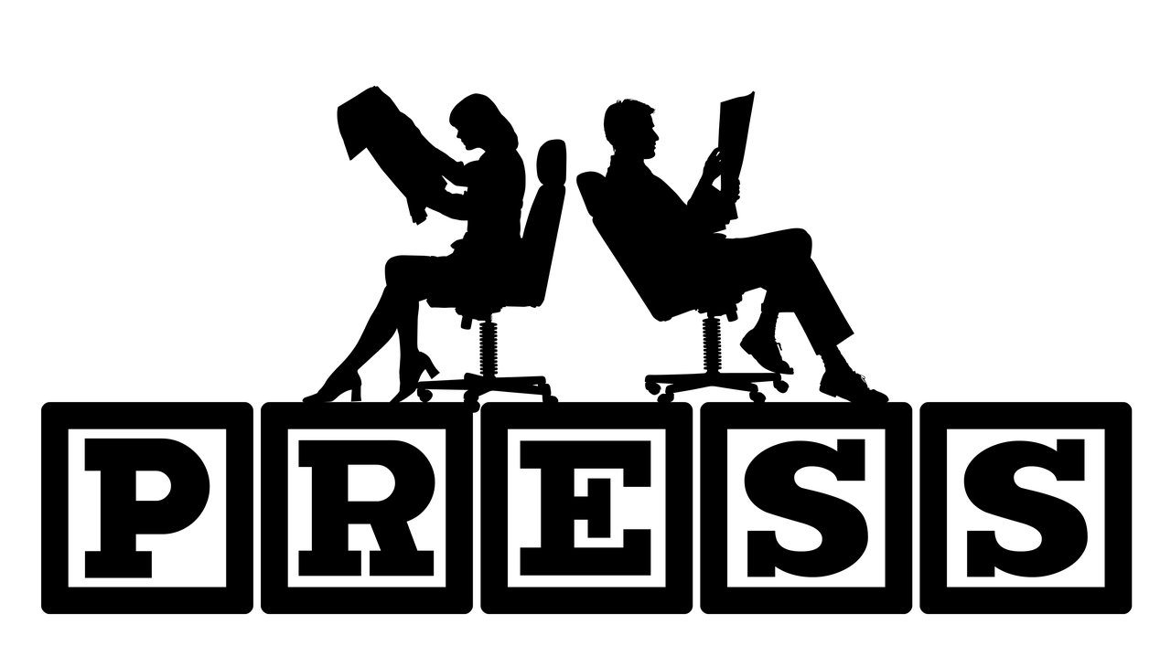 背中合わせに座る男女のロゴ